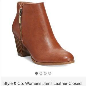 Macy's- Jamil Style & Co bootie tan Sz 9